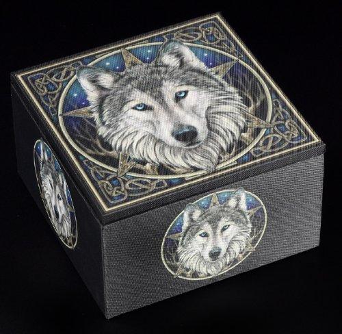 Spiegel Schatulle - The Wild One - Wolfskopf Schmuckkästchen