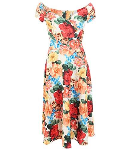 Blue Banana - Blumendruck-Kleid Rot
