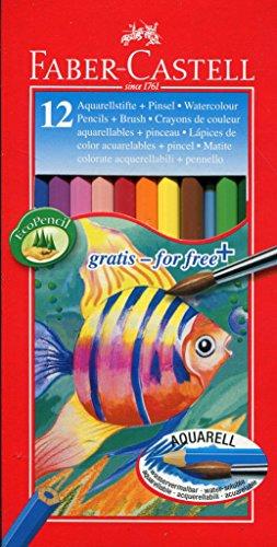 Faber-Castell 114413 - Farbstift Kinder Aquarell 12er Kartonetui