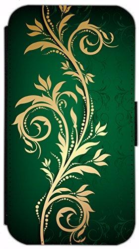 Flip Cover für Apple iPhone 5 5s Design 621 Tattoo Style Schwarz Gold Blau Hülle aus Kunst-Leder Handytasche Etui Schutzhülle Case Wallet Buchflip (621) 624