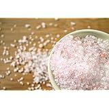 Salzkristall-granuliert 1000g in einem Zip Beutel Körnung 1-3mm aus den Minen der Salt Range 'Ein Vorgebirge des Himalaya' rosa Kristallsalz, geeignet für Salzmühlen, geprüfte Qualität, Salz,Himalaya Salz, Steinsalz, Speisesalz, Badesalz