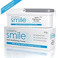 SOMATOX Smile - Teeth Brightening Powder - with Active Pearl Technology • Peroxide Free Whitening Kit • Better Than Whitening Strips and Gel - 6 Months Supply | Cool Mint Flavour ★ Smirk & Smile ★