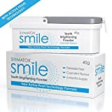 SOMATOX SMILE - Teeth Brightening Powder - With Active Pearl Technology • Peroxide Free Whitening Kit • Better than Whitening Strips and Gel - 6 Months Supply | Cool Mint Flavour ★ FREE DIGITAL eBOOK ★