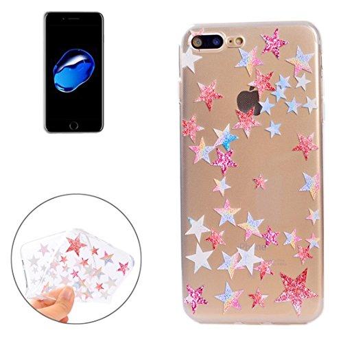 Wkae Bunte blaue Blumenmuster Soft TPU Schutzhülle für iPhone 7 Plus ( SKU : Ip7p5010f ) Ip7p5010g