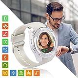 Reloj Inteligente Mujer Hombre, Smartwatch con Ranura para Tarjeta SIM Pulsera Actividad Sincronizar Llamadas y Notificaciones para Xiaomi Huawei Samsung Honor Remi V Mobile Android iOS (Plata)