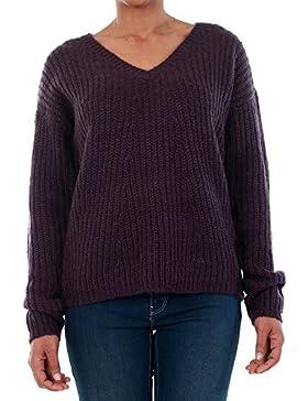 Jersey Vero Moda Mujer Morado 10192791 VMMOLLIE LS V-NECK BLOUSE LTG NIGHTSADE