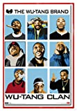 Wu-Tang Clan Poster The Wu-Tang Brand (94x63,5 cm) gerahmt in: Rahmen rot