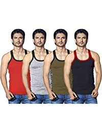 LUX Cozi Xylo Men Assorted Vest (Pack of 4)