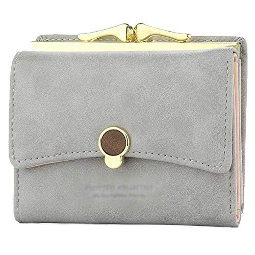 OgquatonDreifach faltender Normallack-Geldbeutel-Reißverschluss-Schlüsselkasten-Speicher-Beutel-Münzen-Beutel-Mappen-Handtasche 10.7 * 18.1CM Qualität -