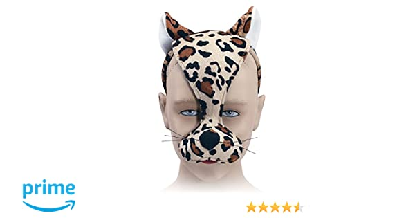 Unisex-Child Bristol Novelty EM182 Leopard Mask and Sound on Headband Multi-Colour One Size