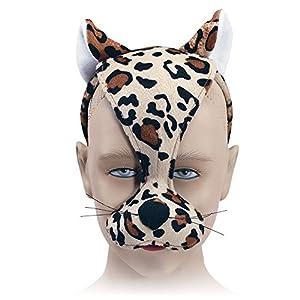 Bristol Novelty EM182 - Máscara de leopardo con diadema, unisex, multicolor, talla única