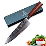 YARENH Damascus Chef Knives 8 Inch with Japanese VG10 Damascus Steel and Exquisite Pakka...