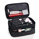 TOPSEFU Make up Bag Portable Double Layer Travel Cosmetic Bag Pouch Travel Makeup Pouch Storage Organiser For Women Girl
