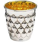 Becher mit Herz Herzbecher H 5,5 cm Silber 925 Sterling 40 gr. Als Taufgeschenk gut geeignet