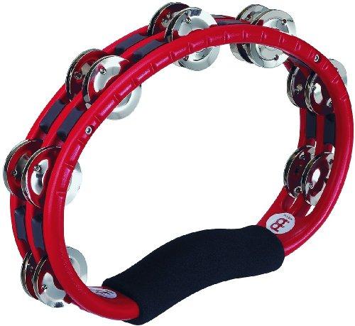 Meinl Percussion TMT1R Tambourine (ABS-Plastik) mit Stahlschellen (2-reihig) - Handmodell, rot