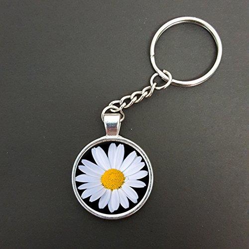 daisy-flower-pendant-on-a-split-ring-keyring-ideal-birthday-gift-n585