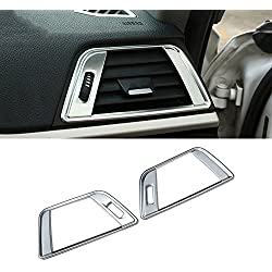 2pcs ABS Dashboard Air Conditioning Vent Frame Trim For 3 4 Series F30 f34 320 316 328 GT Auto Accessories (Matt Silver)