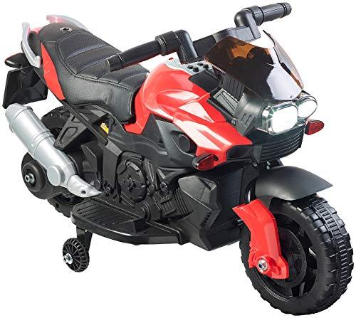Playtastic Kindermotorrad: Kinder-Elektromotorrad mit MP3-Funktion, Sounds & Stützrädern, 3 km/h (Kinder Elektromotorrad)