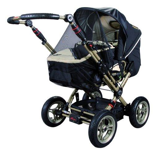 sunnybaby 11236 Vario - Tettuccio parasole per passeggini e carrozzine, con zanzariera rimovibile e fattore di protezione 50+, colore: Nero