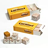 Erasers Small Caramel Funny Food Design Erasers Office, School Supplies (6 Piece) X 2