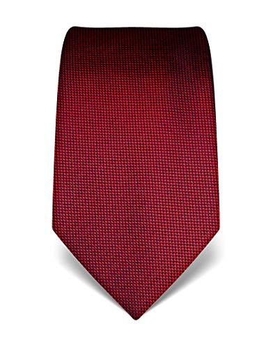Vincenzo boretti cravatta elegante classica da uomo, 8 cm x 15 cm, di pura seta di alta qualità, idrorepellente e antisporco, strutturata rosso