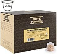 Note d'Espresso Ginger infusion Capsules 2g x 100 Capsules Exclusively Compatible with Nespresso* machines