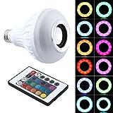 ideapro Haut-parleur Bluetooth Smart Ampoule E27LED Blanc + RGB coloré lampe Smart Musique Audio Bluetooth 3.0haut-parleur avec télécommande pour soirée/karaoké/éclairage d'ambiance Maison Décoration Bar