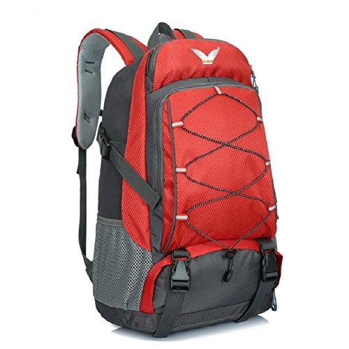 LJ&L Männer und Frauen Universal-Outdoor-Bergsteigen Rucksack, 36-55 Liter großen Kapazität wasserdicht hochwertigen Rucksack, wandernden verstellbaren Rucksack D