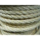 1 Meter Pösamo Nr. 123 Sisal-Seil gedreht max. 62 Kg DIN EN 698 naturfarben Durchmesser 10 mm Meterware Seil Tauwerk