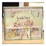 ZHAOXIANGXIANG 1 Pcs Set Cute DIY Mini Fotoalbum Set Baby Thema Mit Scrapbooking Papier- Und 3D-Aufkleber Geschenk Kit, Kit Vintage Scrapbook, 1.