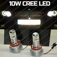 10Wmarcador H8CREE LED ngulo ojos de Halo anillo luz de marcador lateral Bombillas