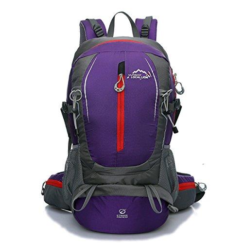 Neu Bergsteigen Nylon Rucksack Mode Sport Reisen Tasche 40L Purple