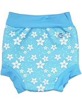 Splash About Happy Nappy, Pañal de natación para Bebé, Multicolor (Blue Blossom), X Large (12-24 Meses)