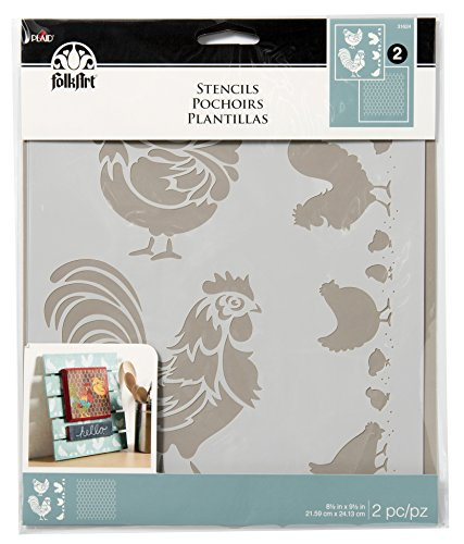 folkart-stencils-31624-coordinating-chicken-coop-2-pack