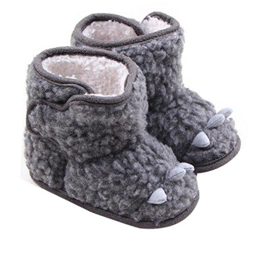 Culater® Pattini della greppia del bambino del bambino Snow Boots suola molle Prewalker (12)