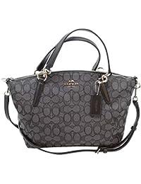 05620435e61d Coach F27582 Outline Signature Small Kelsey Crossbody Satchel Bag Black  Smoke Black