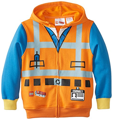 LEGO Movie Jungen Emmett Kostüm Orange Zip Up -