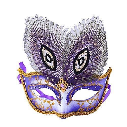 Meigold Prom Party Maske Pfau Augen Maske Karneval Karneval Halloween Requisiten