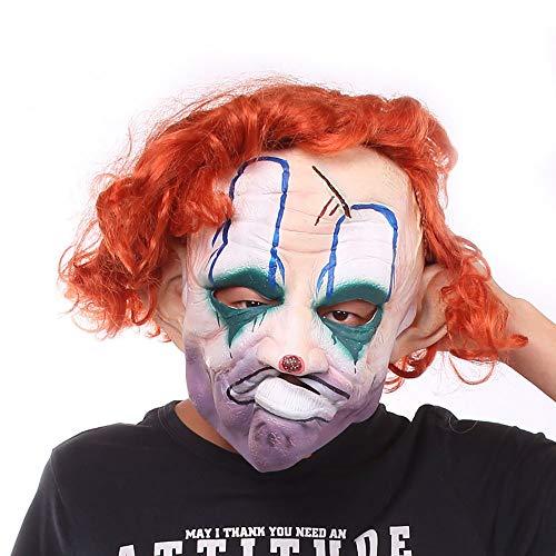 Halloween Maske Umweltfreundlich Latex Clown Maske Horror Lustige Requisiten Unisex 1 Stücke Stücke Erwachsene Geschenk,Color,Onesize
