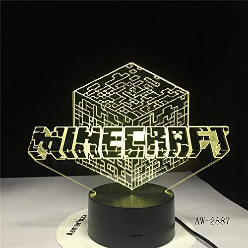 Square Spiel Umgebenden Charakter Prototyp 3D Led-Licht Stecker Licht 7 Farbe Heimtextilien-Touch