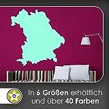 KIWISTAR Bundesland Bayern - München Allianz Arena Wandtattoo in 6 Größen - Wandaufkleber Wall Sticker