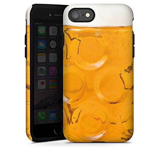 Apple iPhone 7 Hülle Tough Case Schutzhülle Bier Glas Stein Masskrug