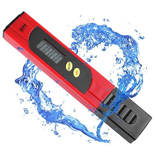 femor PH Messgerät, pH Tester Pool, Wasserqualitätstest Messgerät Digitales Messgerät mit LCD-Anzeige, für Haushalt Trinkwasser Hydroponic Aquarium PH Messgerät