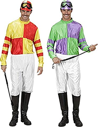 Jockey Red/Yell & Grn/Ppl Costume Small for Horse Riding Sport Fancy Dress