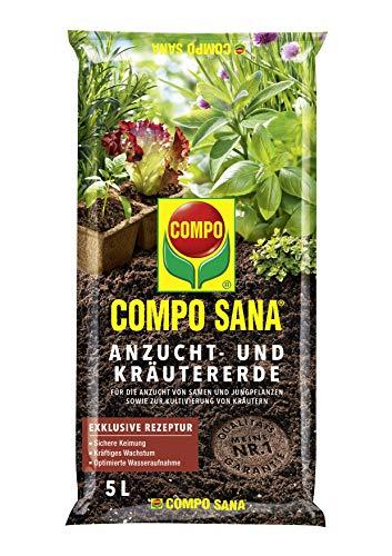 Compo Sana Terre à semis et boutures, la Terre spéciale pour aussaaten, Herbes, boutures de qualité et Jung, Plantes, 5 l