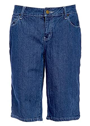 """HINT Cropped Jeans Ladies Designer Knee Length Pants ALL PLUS size Blue Shorts (16""""W)"""