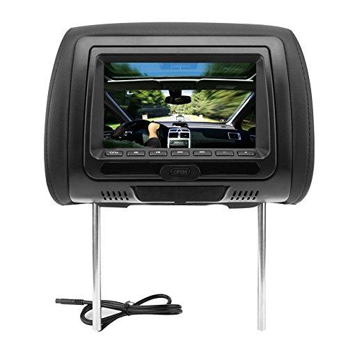 """Ballylelly-Universal 7"""" Kopfstütze Auto DVD-Player Schwarz Auto DVD/USB/Auto Kopfstütze Monitore mit Spielen Disc Interne Lautsprecher"""