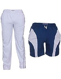 TeesTadka Men's Cotton TrackPants For Men And Shorts For Men Combo Offers Pack Of 2 - B01N9JYGVV
