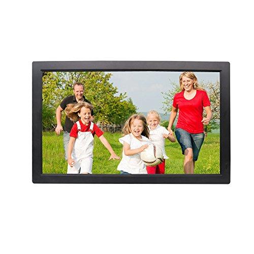 WMING 21,5 Zoll Digitaler Bilderrahmen 1080P des Digitalen Bilderrahmens Der Wandvitrine, Der HDMI-Anzeige, 1920 * 1080 HD-Auflösung, Mit Fernbedienung Anzeigt,Black