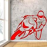 xingbuxin Autoadesivo Creativo della Parete del Disegno motociclette per la Camera da Letto dei Ragazzi Sfondo Vinile Rimovibile Adesivi murali Carta da Parati Impermeabile di Arte 2 XXL80cm X 58cm